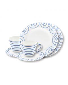 Breakfast for two Gourmet Set blaugeflammt