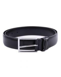 Handgefertigter eleganter Ledergürtel aus feinstem Kalbsleder - Schwarz- 35mm Breite