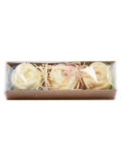 Badekonfekt 3erlei - Lemongrass - Lavendel - Rose vegan 3 x 35g