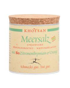 Bio Meersalz mit Zitronenthymian und Orange Würzdose 200g