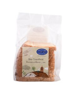 Bio Toastbrot Weizenvollkorn geschnitten 220g
