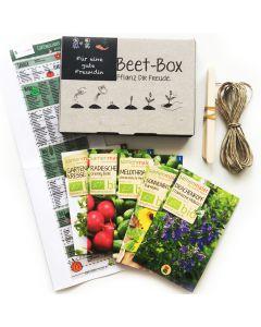 Bio Beet Box - Für eine gute Freundin - Saatgut Set inklusive Pflanzkalender und Zubehör