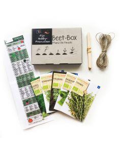 Bio Beet Box - Für Hobby Franzosen - Saatgut Set inklusive Pflanzkalender und Zubehör