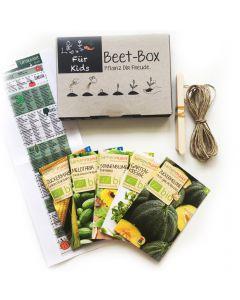 Bio Beet Box - Für Kids - Saatgut Set inklusive Pflanzkalender und Zubehör