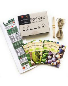 Bio Beet Box - Raritätenbox für Besondere - Saatgut Set inklusive Pflanzkalender und Zubehör
