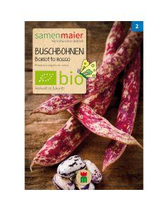 Bio Buschbohnen Auskernbohne Borlotto rosso - Saatgut für zirka 12 Pflanzen