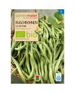 Bio Buschbohnen  La Victoire - Saatgut für zirka 25 Pflanzen