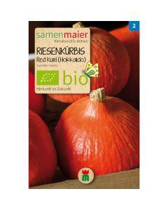 Bio Kürbis Red Kuri - Saatgut für zirka 5 Pflanzen