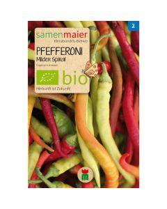 Bio Pfefferoni Milder Spiral - Saatgut für zirka 10 Pflanzen