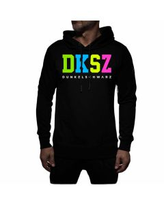 Dunkelschwarz Hoody DS-3 DKSZNEON black