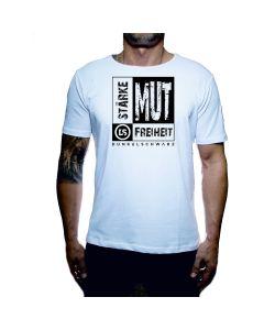 Dunkelschwarz T-Shirt DS-1 MUT white