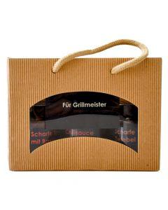 Geschenkbox Für Grillmeister Saucen 3x155g