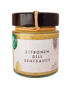 Bio Zitronen Dill Senf Sauce 125g