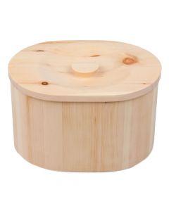 Handgefertigte Zirben Brotdose oval 27cm
