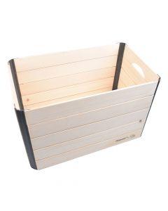 Hopaki Große Holzkiste aus Fichte/Kiefer zusammenklappbar
