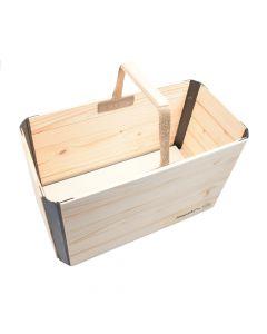 Hopaki Kleine Einkaufskiste Holz/Fichte zusammenklappbar