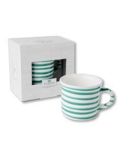 Kaffeehäferl glatt grüngeflammt 240ml