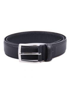 Handgefertigter Rindsleder Gürtel mit narbiger Oberfläche - Schwarz- 35mm Breite
