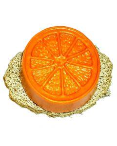 Set: Shampoo-Teil Orange mit Luffa-Scheibe