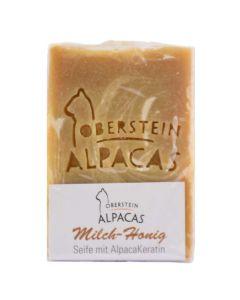 Alpaka Keratin Seife Milch-Honig 80g