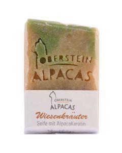 Alpaka Keratin Seife Wiesenkräuter 80g