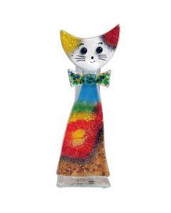 Reagenzglas Vase Katze mit Mascherl
