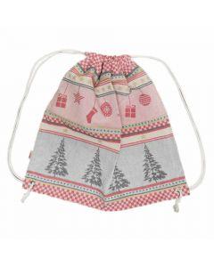 Rucksackbeutel Weihnachtswelt aus 100 Prozent Baumwolle