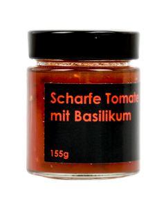 Scharfe Tomate mit Basilikum Fruchtaufstrich 155g
