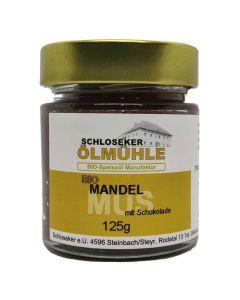 Bio Mandelmus mit Schokolade 125g