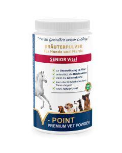 Senior vital - Premium Kräuterpulver für Hunde und Pferde 500g