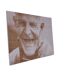 Wandbild aus Holz mit persönlichem Foto 55cm x 36cm