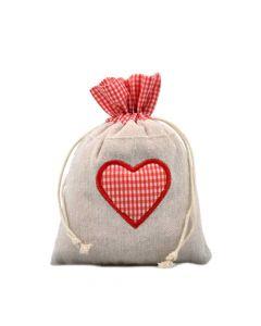 Zirbenduftsäckchen mit Herzmotiv 18x13cm