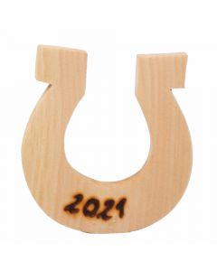 Hufeisen Glücksbringer aus Zirbenholz 5cm x 5cm