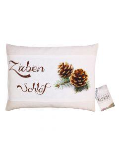 Zirbenschlaf Natur - Dinkel Zirbenkissen 30cm x 22cm