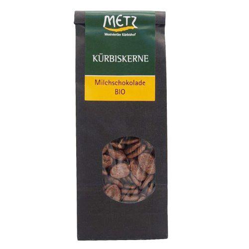 Bio Kürbiskerne mit Milchschokolade 80g