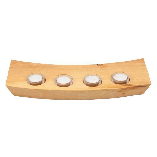 Handgefertigtes Holz Teelicht Brett Erle 38.4cm