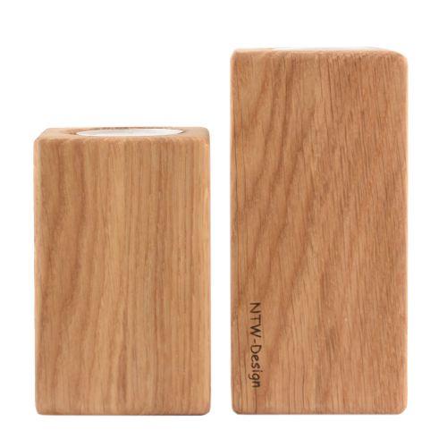 Holz Kerzenständer-Duo Eiche
