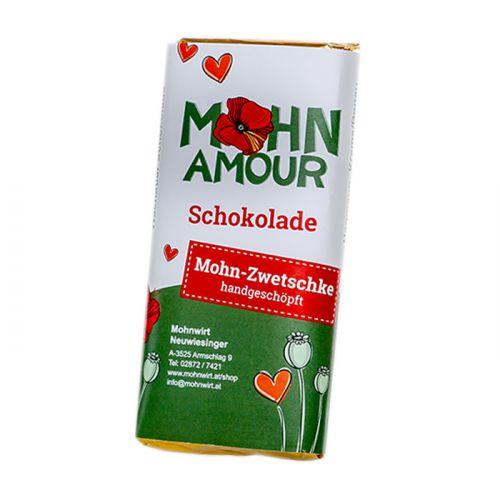 Mohn-Zwetschkenschokolade 65g