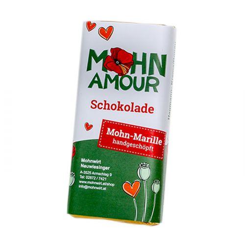 Mohn-Marillenschokolade 65g