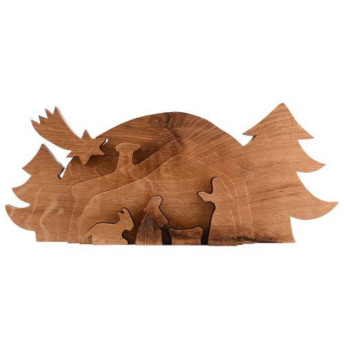 Reliefkrippe aus Eichenholz