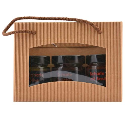 Geschenkpaket - Für Italo Fans - Scharfe Olive - Scharfe Tomate - Scharfe Zwiebel - 3x155g