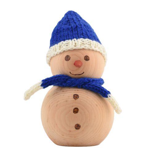 Schneemann aus Zirbenholz 12cm