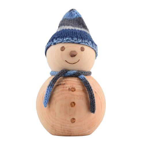 Schneemann aus Zirbenholz 15cm