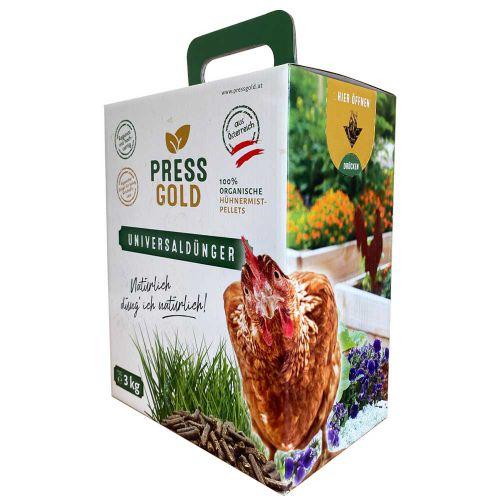 Pressgold Universaldünger organische Hühnermist-Pellets 3kg