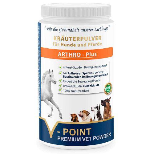 Arthro Plus - Premium Kräuterpulver für Hunde und Pferde 500g