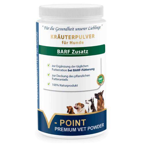 Barf Zusatz - Premium Kräuterpulver für Hunde 500g