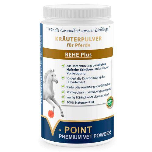 Rehe Plus - Premium Kräuterpulver für Pferde 500g